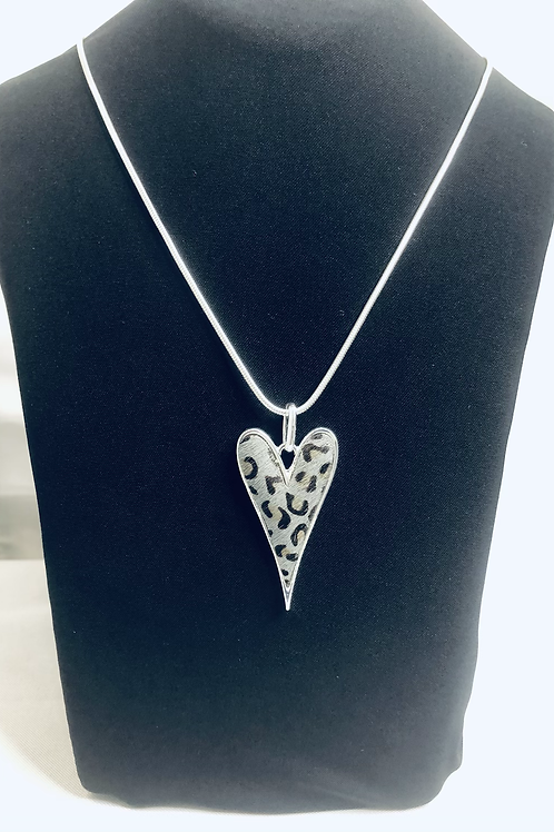 Animal print Heart Necklace