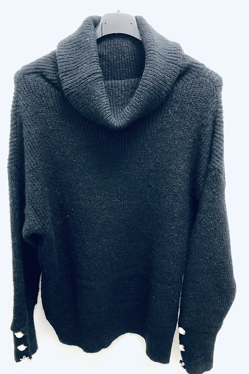 Chunky Knit Cowl Neck Jumper