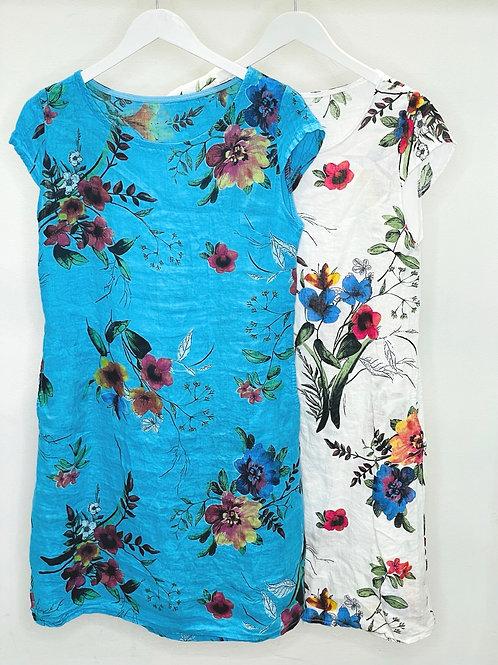 Bright Flower Cotton Dress