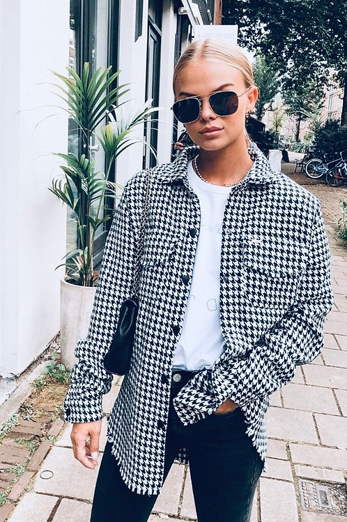 Oversized Check Shirt Jacket