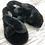 Thumbnail: Faux Fur Black Slippers