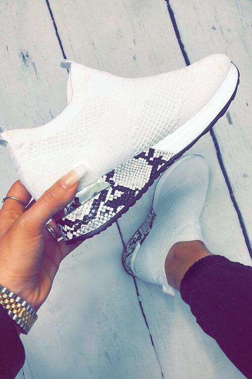 White designer inspired trainers