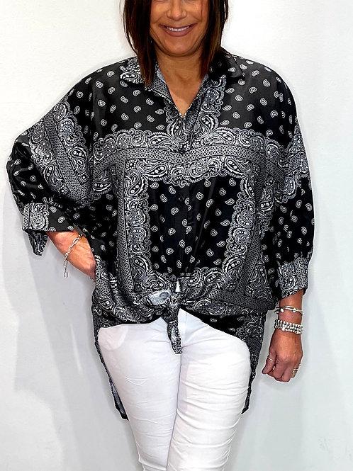 Longline Paisley Shirt