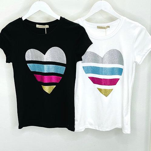 Glitter Heart T-Shirt