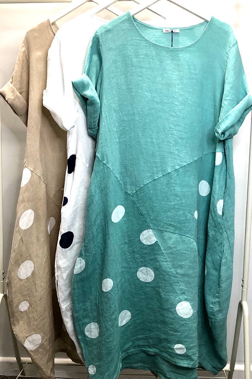 Linen Spot Pocket Dress