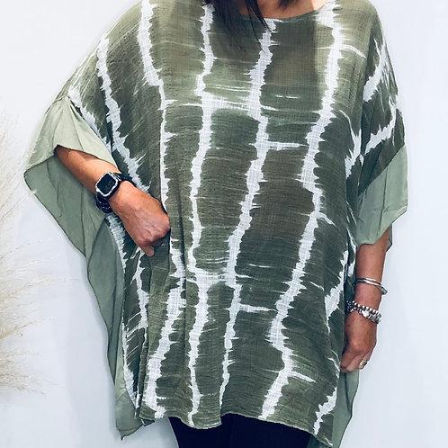 Oversized Side Trim Linen Top