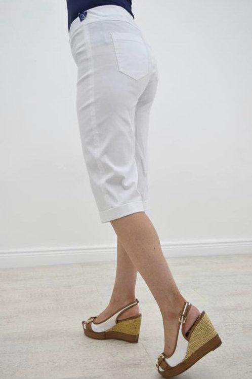 Robell Slim Fit Bella Shorts White