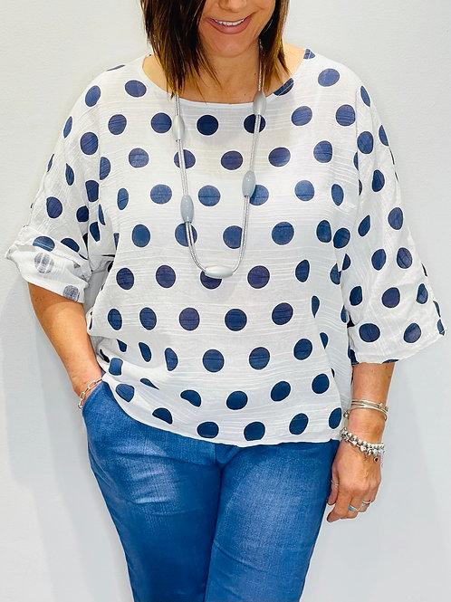 Large Spot Cotton Top