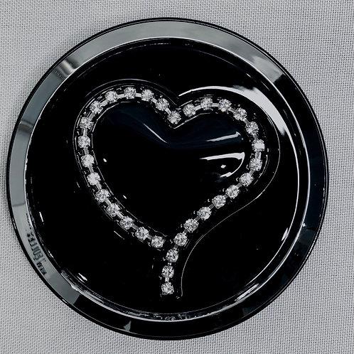 Diamanté Heart Compact Mirror