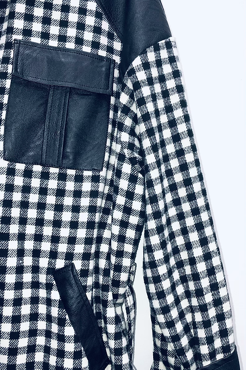 Faux Leather detailed Shacket