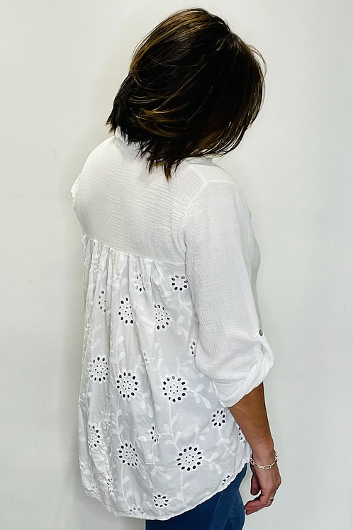 Broderie Anglaise Back Shirt