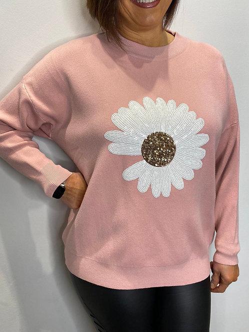 Sequin Flower Top