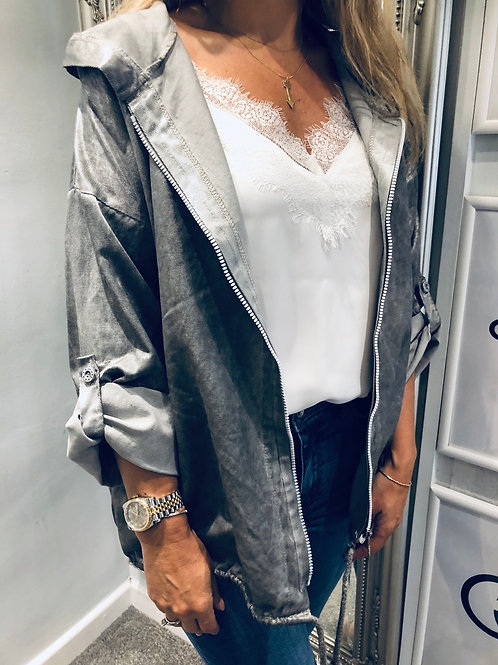 Metallic Logo Jacket