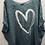 Thumbnail: Long Heart Linen Top with Zips
