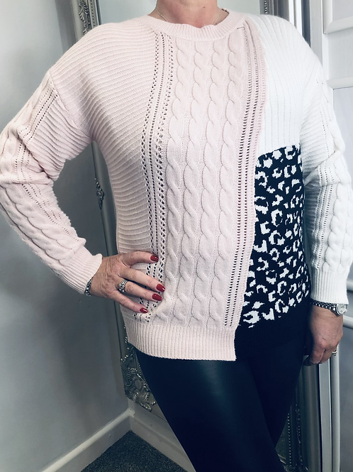 Cable Knit Animal Detail Jumper