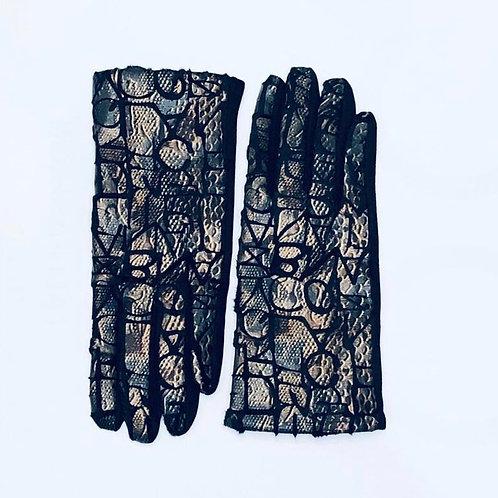Embossed Animal Print Glove