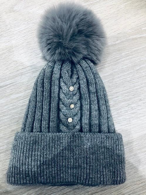 Diamanté Bobble Hat