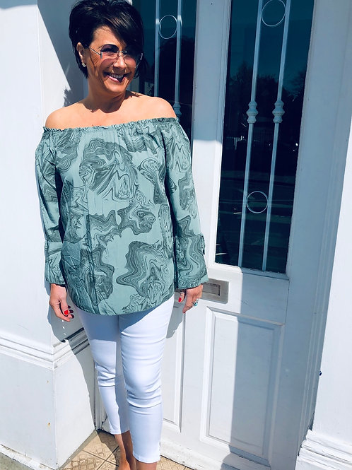 Off The Shoulder Pattern Top