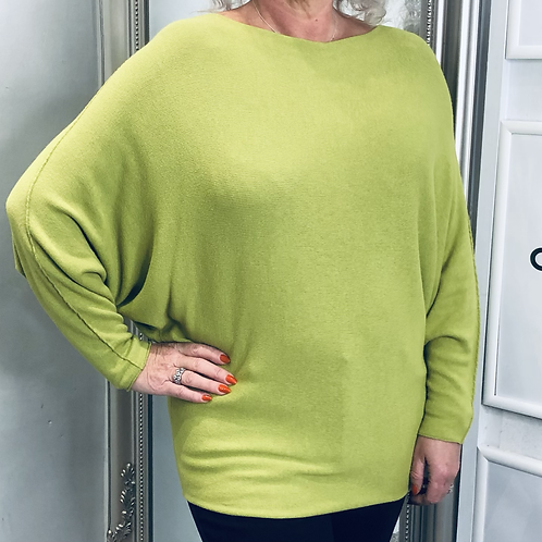 Plain Knit Batwing Top