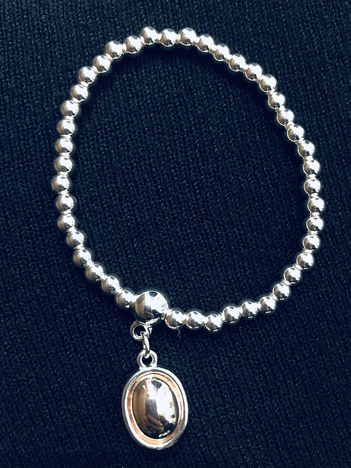 Two Tone Drop Bracelet