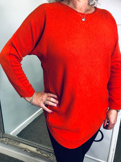 Ribbed Hem Knit Jumper