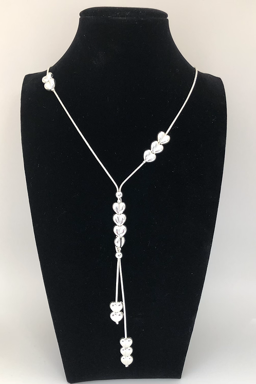 Beaded Heart Drop Necklace