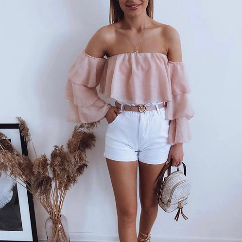 Bardot Layered Sleeve Top