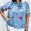 Thumbnail: Flower Cotton Gypsy Top