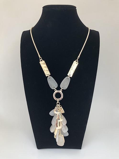 Neutral Pebble Bead Necklace