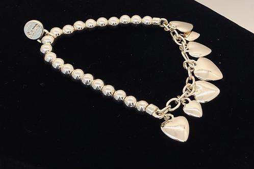 Multi Heart Charm Bracelet