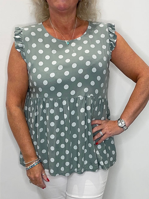 Spotty Tiered Top