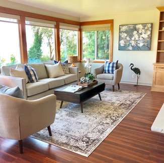 seattle home staging waterfront view