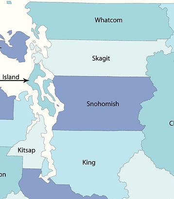 washington map service area seattle everett, wa snohomish king skagit island whatcom county