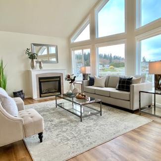 living room renovation Whidbey Island, WA