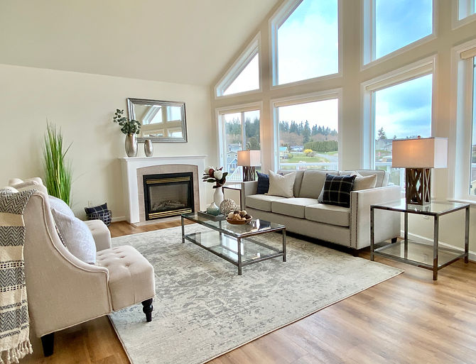 Whidbey Island waterfront home renovated staged
