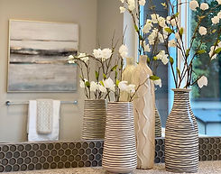 seattle home staging bathroom tall vases