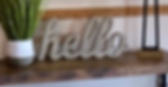 hello sign front entryway table
