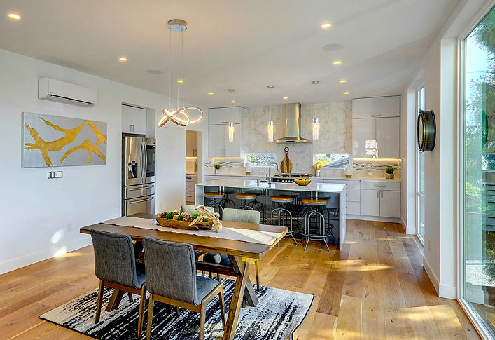 home staging seattle modern kitchen gold marble