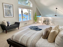 airbnb vrbo short term rental styling whidbey island waterfront bedroom