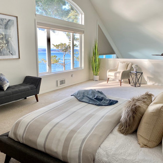 Whidbey Island waterfront view bedroom