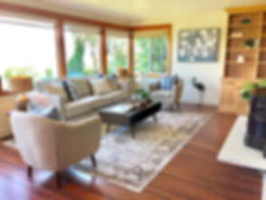 vacant home staging edmonds waterfront view show buyers contemporary furniture
