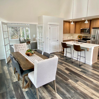 seattle home stager renovated kitchen