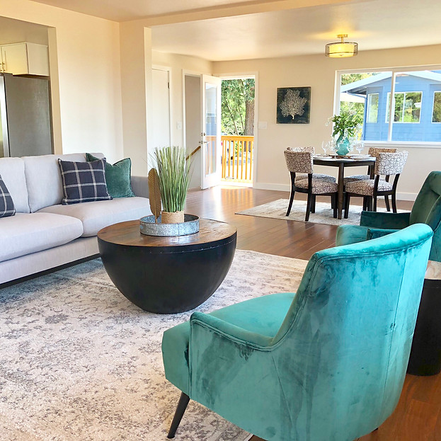 edmonds wa staging renovated living space