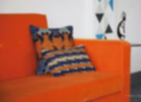 Orange rules! #midcenturymodern #revival #waxprints #africanstyle