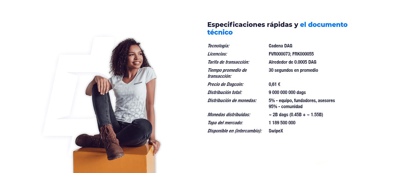 ESPECIFICACIONES TECNICAS DAGCOIN