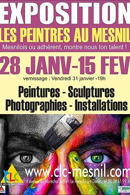Exposition artistes au CLC Le Mesnil St Denis
