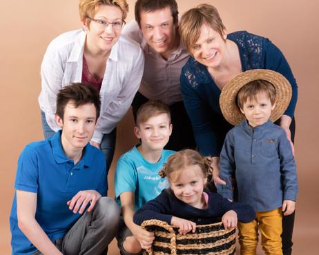 Portrait en studio - famille