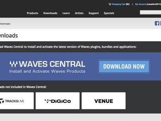 Waves Audio オーサライズ変更