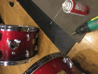 ドラムセットのメンテナンス