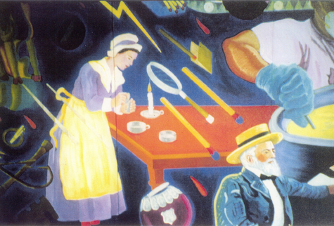 Fire Mural Close-up